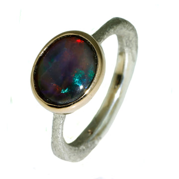 Australian Opal, Solid Australian Opal Ring, What Women Want Jewellers, Opal Speicalists, Red and Green Opal - What Women Want Jewellers
