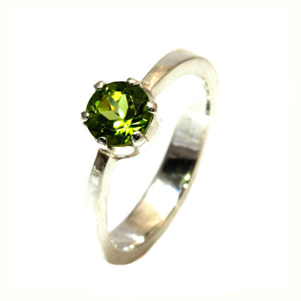 Natural Peridot silver dress ring - What Women Want Jewellers