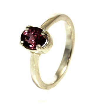 Natural Pink Spinel Silver Ring - What Women Want Jewellers