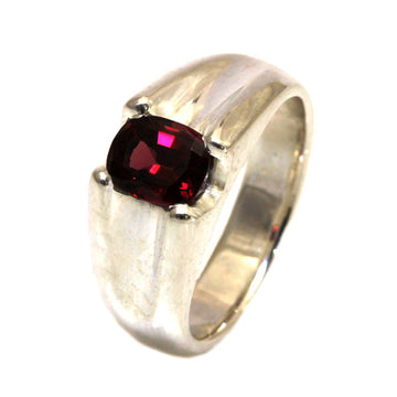 Oval Rhodolite Garnet Silver Dress Ring - What Women Want Jewellers