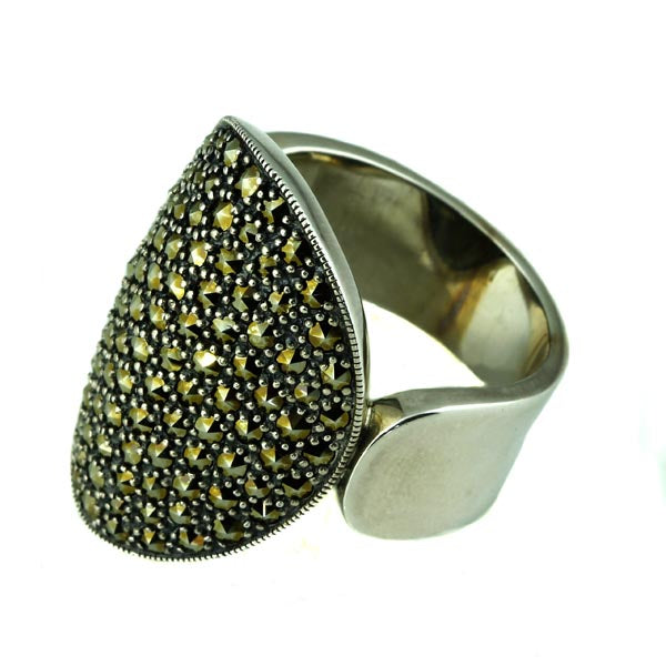 Silver Marcasite Dress Ring - What Women Want Jewellers