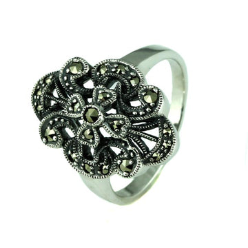 Vintage Look Marcasite Ring - What Women Want Jewellers