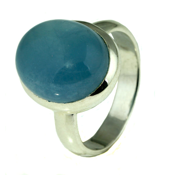 Oval Aquamarine Silver Ring-What-Women-Want-Jewellers