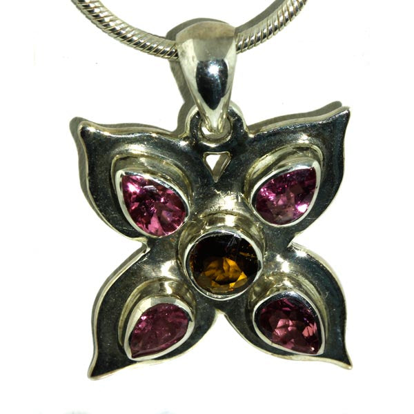 Pink Tourmaline Silver Pendant - What Women Want Jewellers