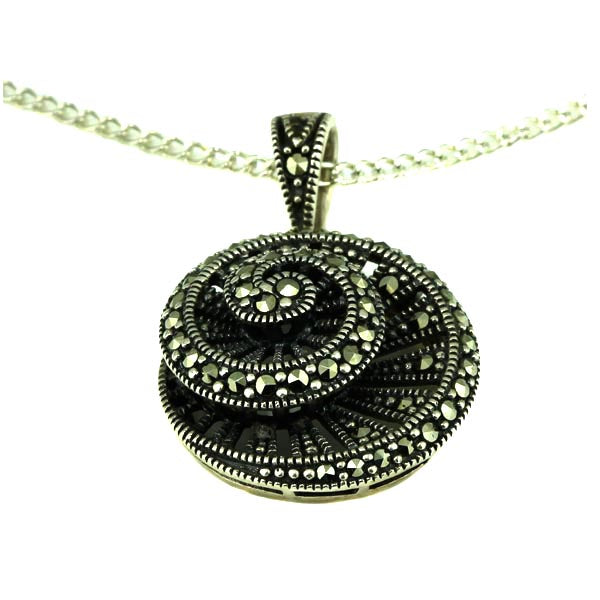 Fibonacci Silver and Marcasite Pendant - What Women Want Jewellers