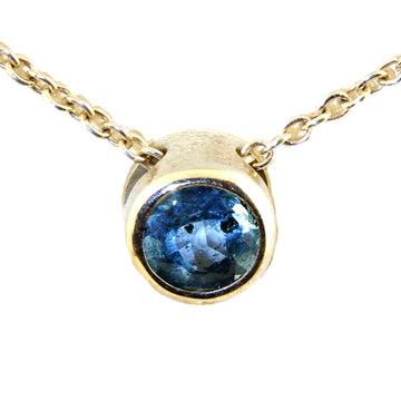 Silver Blue Topaz Donut Slider Pendant - What Women Want Jewellers