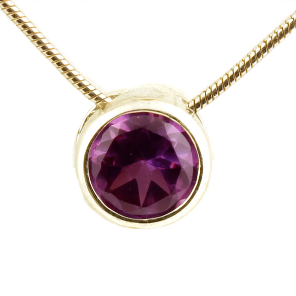 Silver Amethyst Donut Slider Necklace - What Women Want Jewellers