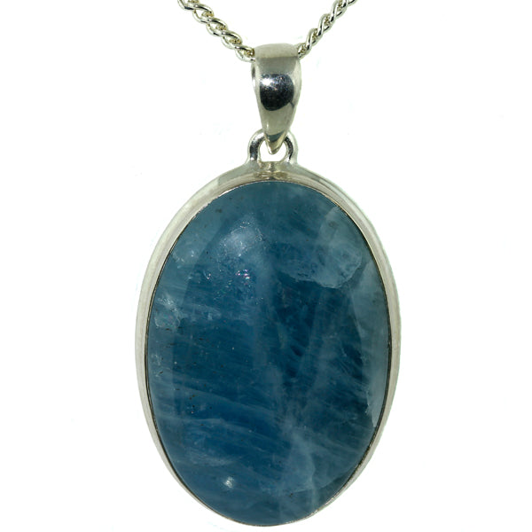 Oval Aquamarine Silver Pendant-What Women-Want-Jewellers