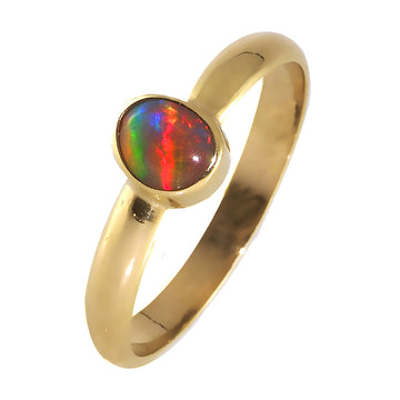 Australian black opal gold ring - What Women Want Jewellers