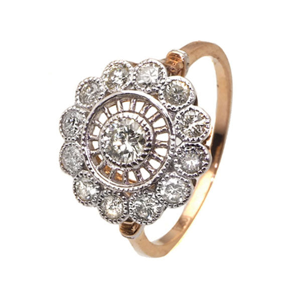 Daisy diamond rose gold engagement ring - What Women Want Jewellers