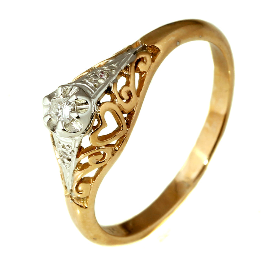 Antique Rose Gold Diamond Engagement Ring What Women Want Jewellers