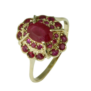 Natural Ruby Cluster Ring - What Women Want Jewellers