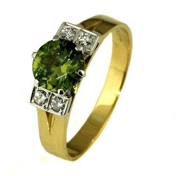 Australian Sapphire and Diamond Gold Ring - What Women Want Jewellers