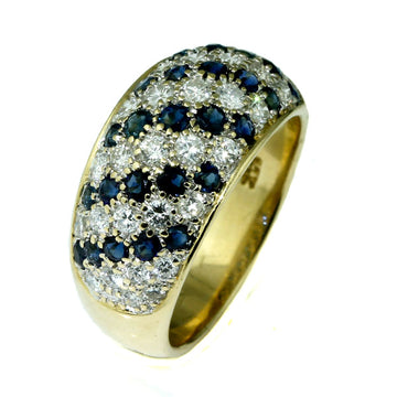 Pave Blue Sapphire Diamond Dome Ring - What Women Want Jewellers