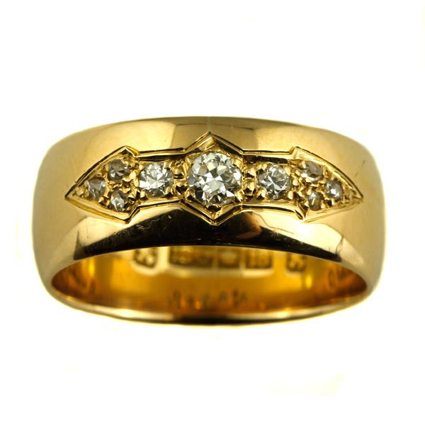 Vintage Diamond Gold Enternity Band - What Women Want Jewellers