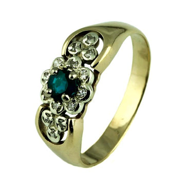 Vintage Ornate Flower Sapphire Ring - What Women Want Jewellers