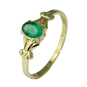 Vintage Look Natural Emerald Ring - What Women Want Jewellers