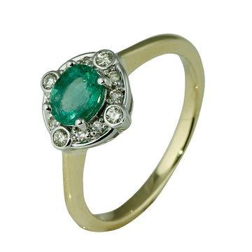 Oval Light Green Emerald Ring - What Women Want Jewellers