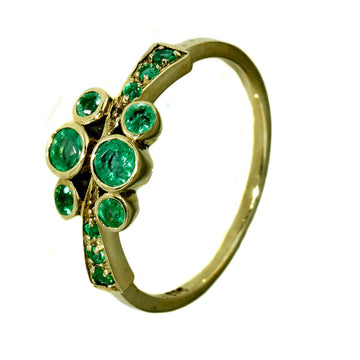 Natural Green Emerald Ring - What Women Want Jewellers