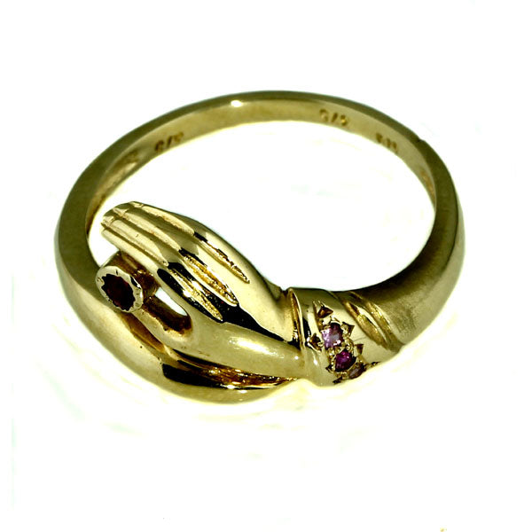 Gold Hand with Rugy Ring