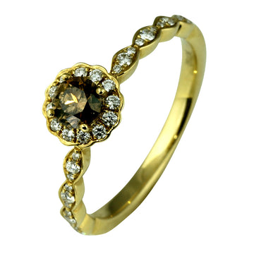 Australian Chocolate Diamond Engagement Ring - What Women Want Jewellers