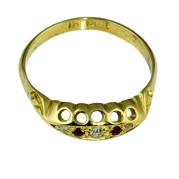 Antique Ruby Diamond Gold Ring - What Women Want Jewellers