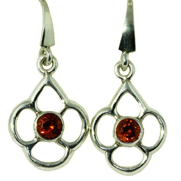 Spessartite Garnet Silver Drop Earrings - What Women Want Jewellers