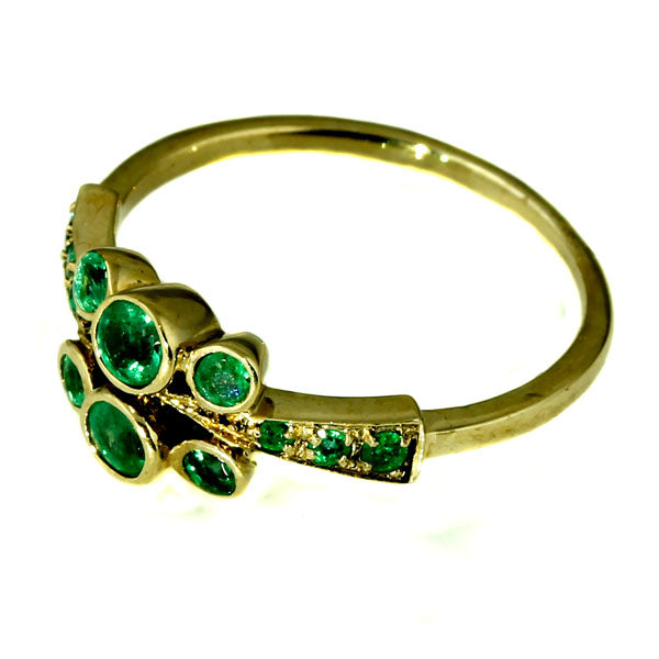 Natural Green Emerald Ring
