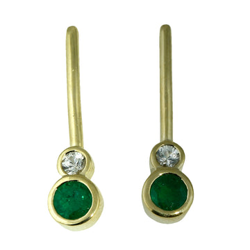 Emerald and Diamond Stud Earrings - What Women Want Jewellers