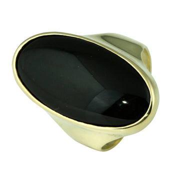 Large Oval Onyx Gold Dress Ring - What Women Want Jewellers
