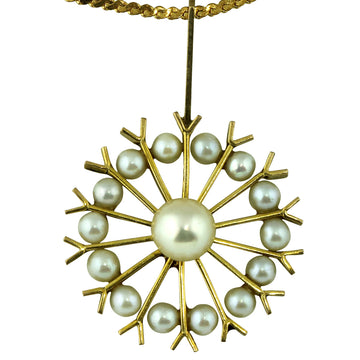 Vintage Gold Pearl Pendant