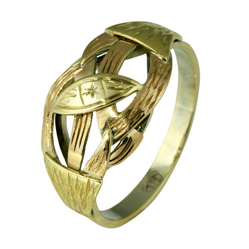 Rose and Yellow Colored Gold Dress Ring - What Women Want Jewellers