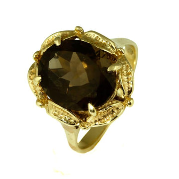 Stunning Vintage Smokey Quartz Gold Ring - What Women Want Jewellers