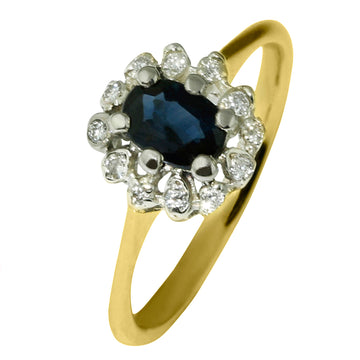 Oval Blue Sapphire Diamond Ring - What Women Want Jewellers