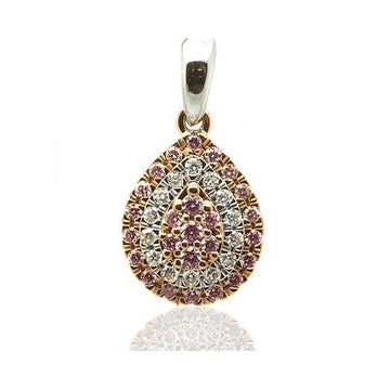 Argyle drop pink diamond white gold pendant - What Women Want Jewellers