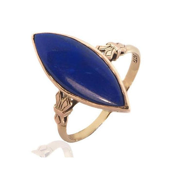 Art deco lapis lazuli rose gold ring - What Women Want Jewellers