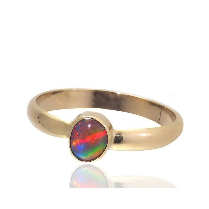 Black opal gold ring - What Women Want Jewellers