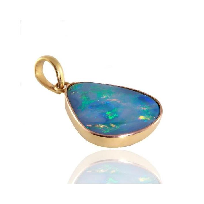 Blue opal gold pendant - What Women Want Jewellers