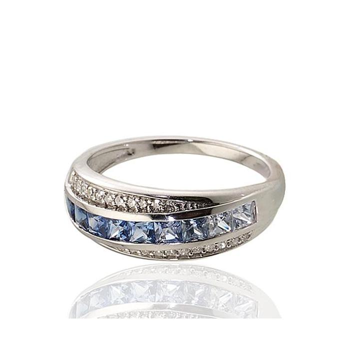 Ceylon sapphire white gold ring - What Women Want Jewellers