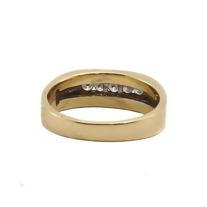 Classic diamond gold men's ring - What Women Want Jewellers