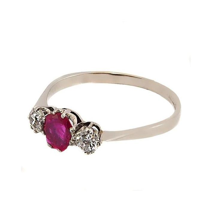 Classic ruby diamond gold engagement ring - What Women Want Jewellers