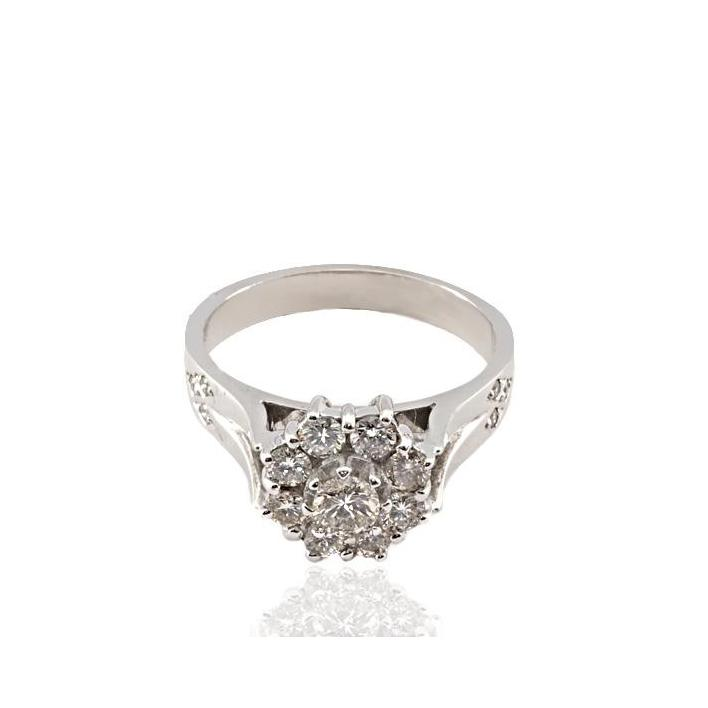 Cluster diamond white gold engagement ring - What Women Want Jewellers