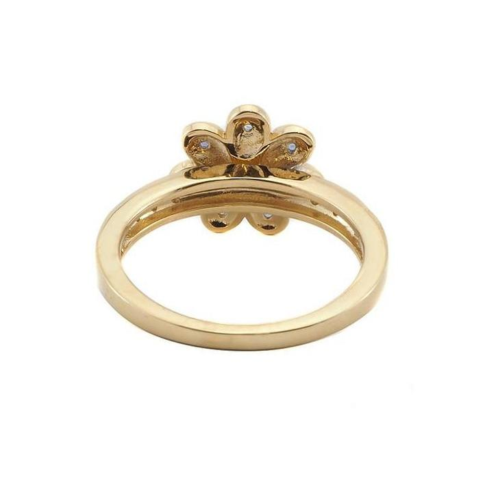 Daisy sapphire diamond gold ring - What Women Want Jewellers
