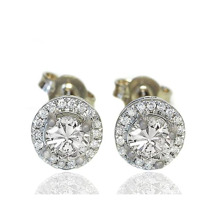 Diamond circle white gold earrings - What Women Want Jewellers