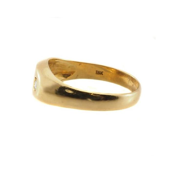 Edgy diamond gold men's ring - What Women Want Jewellers