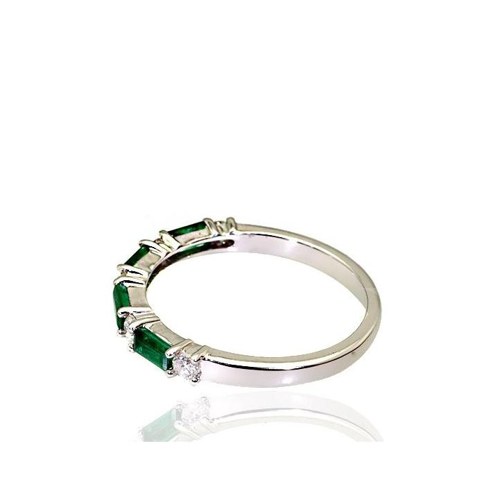 Emerald diamond white gold ring - What Women Want Jewellers