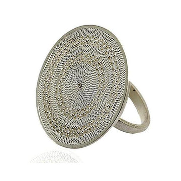 Filigree sphere columbian silver ring - What Women Want Jewellers