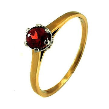 Garnet platinum gold engagement ring - What Women Want Jewellers