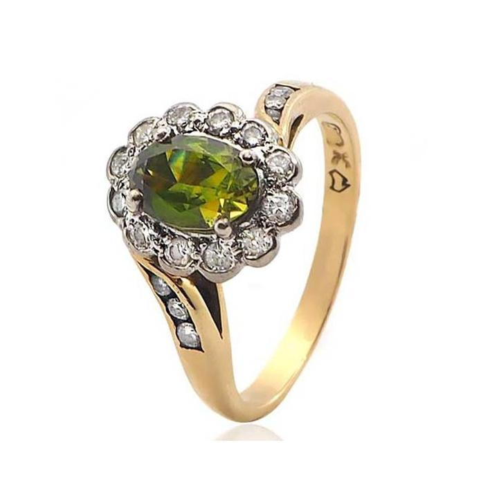 Green sapphire diamond gold engagement ring - What Women Want Jewellers