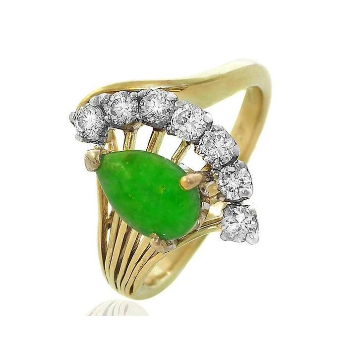 Jade diamond gold ring - What Women Want Jewellers